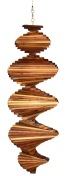 wind spinner wood 18 inch redwood