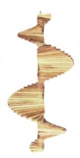 Wooden Cedar Wind Spinner